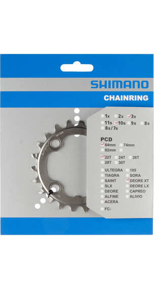 Shimano Deore XT FC-M782 eturattaat 64 BCD , musta